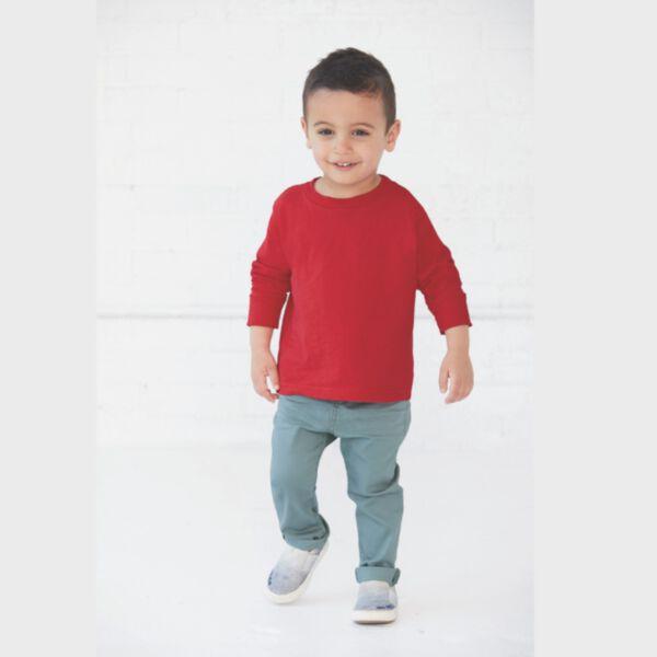 Rabbit Skins Toddler Long Sleeve Cotton T-Shirt