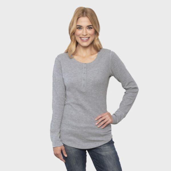 ATC ESActive® Ladies' Vintage Thermal Long Sleeve Henley