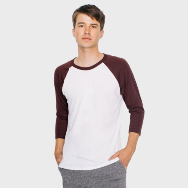 American Apparel Poly-Cotton 3/4 Sleeve Raglan T-Shirt