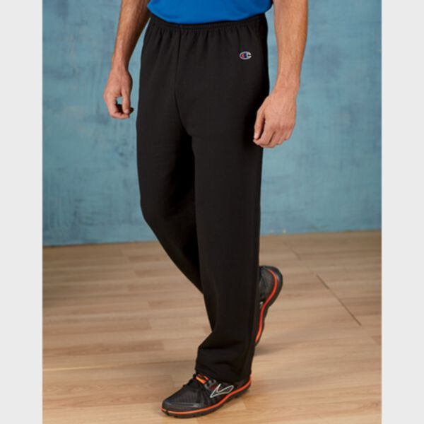 Champion Adult Double Dry Eco Open-Bottom Fleece Pant with Pockets