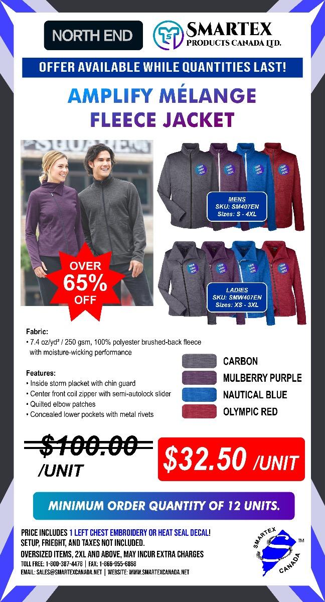 North End Melange Fleece Jackets