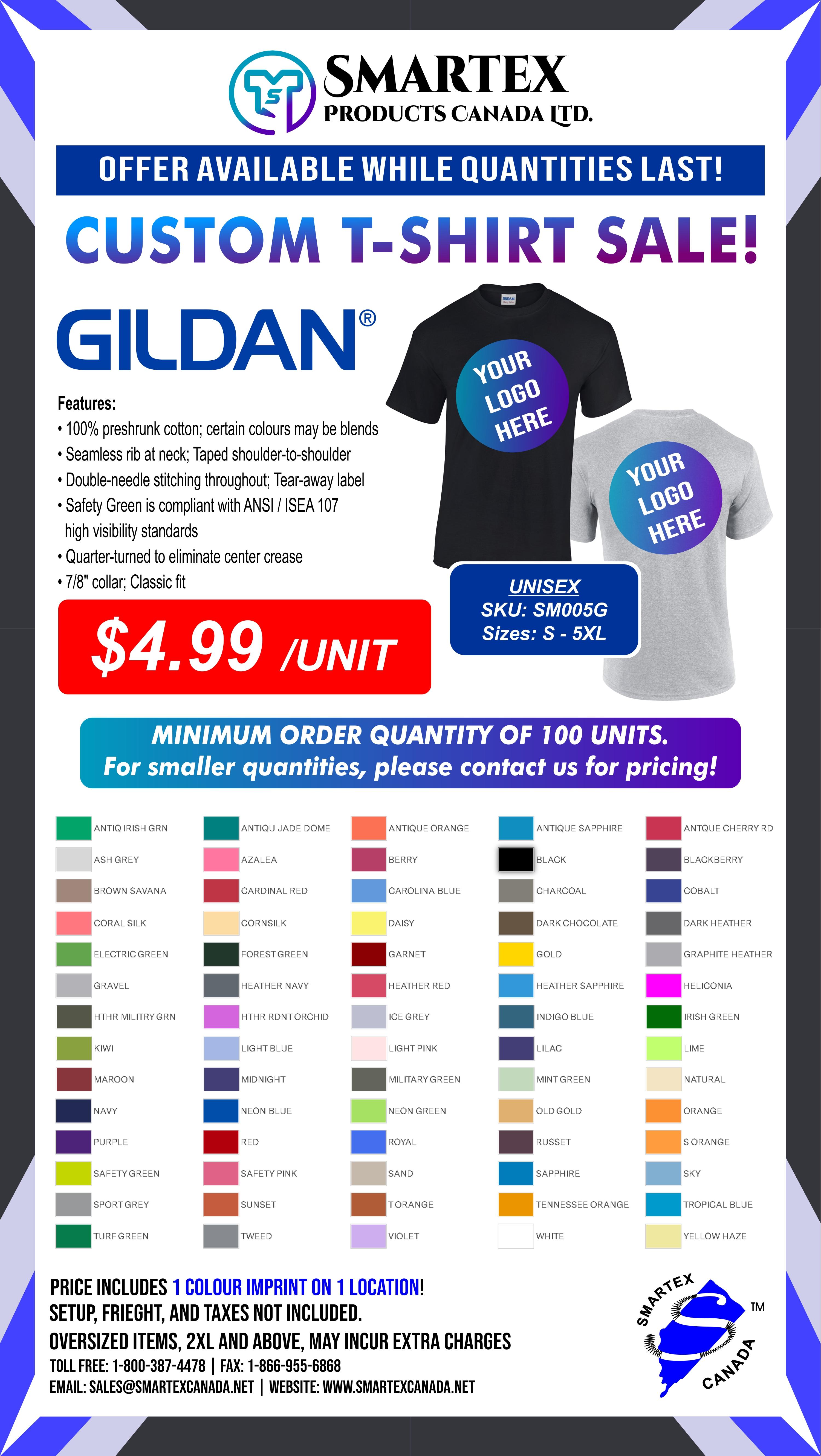 Gildan Custom T-Shirt SALE