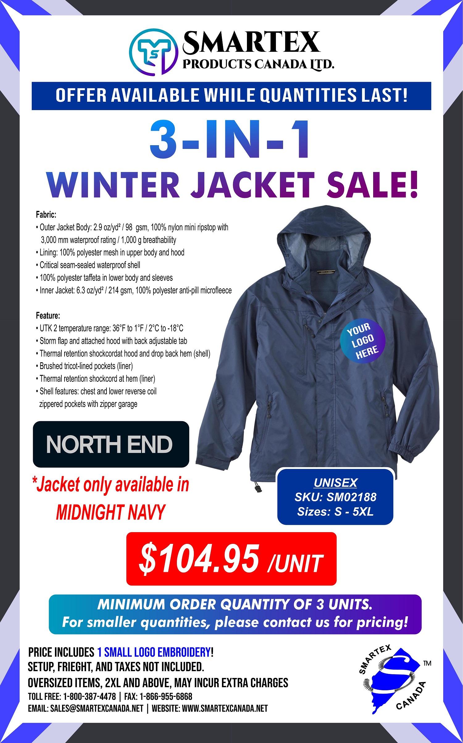 3-In-1 Winter Jacket Sale