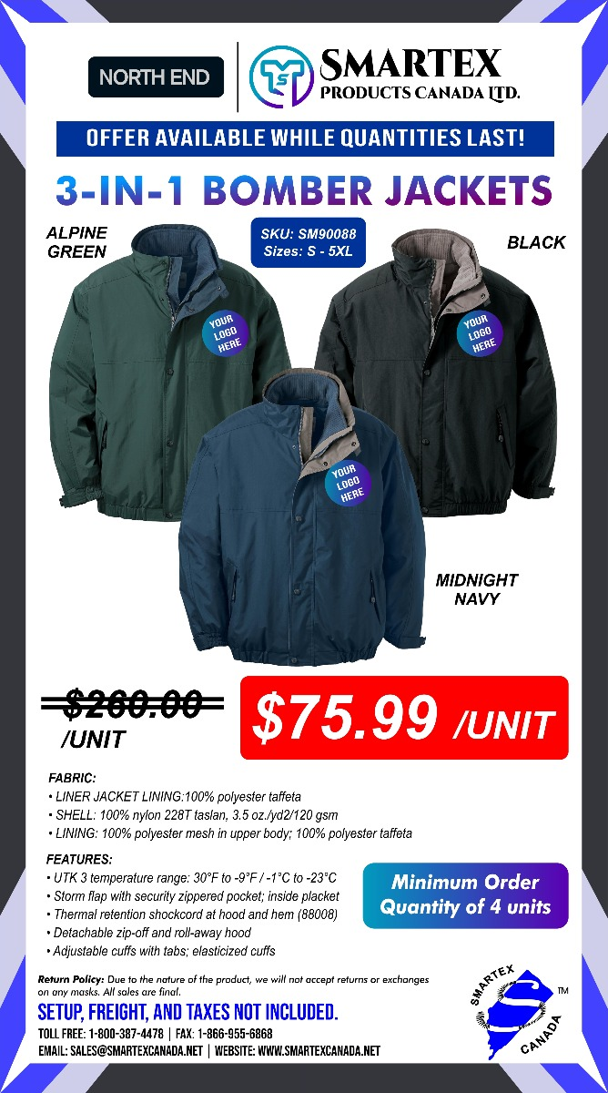 3-in-1 Bomber Jackets